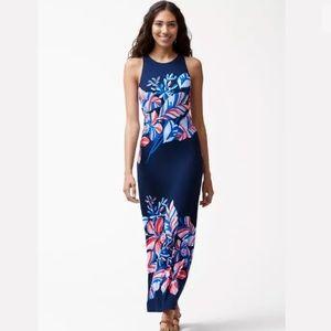 Tommy Bahama Le Tigre Navy Floral Maxi Dress